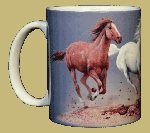 Horse 11 OZ. Ceramic Coffee Mug ~ Trio of Horses