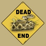 Rattlesnake Dead End Sign
