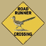 Roadrunner Crossing Sign