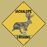 Jackalope Crossing Sign