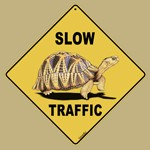 Slow Traffic Tortoise Sign