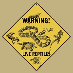 Warning Live Reptiles Sign