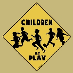 Children at Play Crossing Sign
