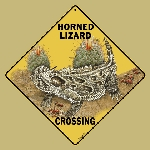 Horned Lizard Crossing Sign (Horny Toad)