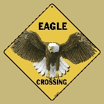 Eagle Crossing Sign
