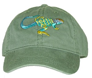Collared Lizard Embroidered Cap