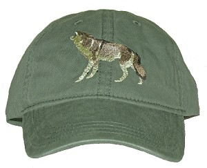 Coyote Embroidered Cap