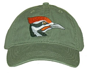 Pileated Woodpecker Embroidered  Cap