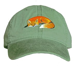Red Fox Embroidered Cap