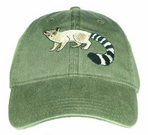 Ringtail Cat Embroidered Cap