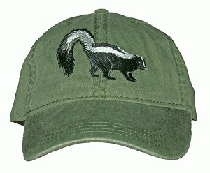 Striped Skunk Embroidered Cap