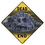 Gator (Alligator) Dead End Sign