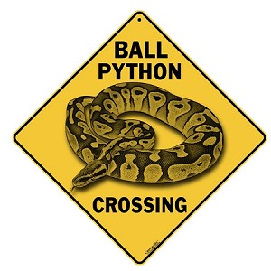 Ball Python Crossing Sign