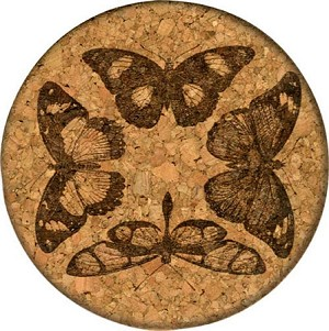 Four Beautiful Butterflies Coaster