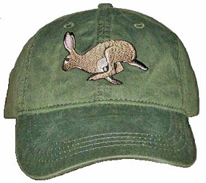 Black-tailed Jackrabbit Embroidered Cap