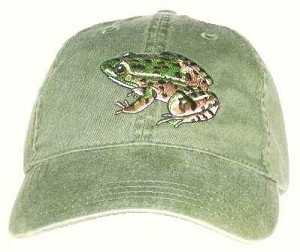 Leopard Frog Embroidered Cap