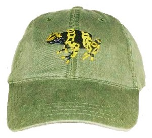 Poison Dart Frog Embroidered Cap