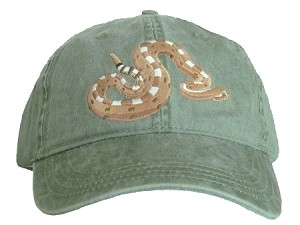 Sidewinder Snake Embroidered Cap