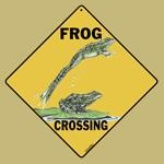 Frog Crossing Sign