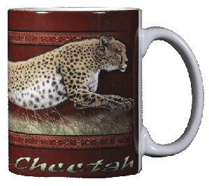 Cheetah 11 OZ. Ceramic Coffee Mug