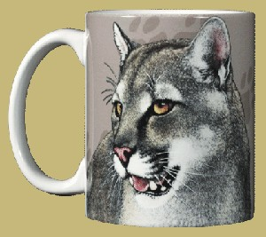 Mountain Lion ~ Puma ~ Cougar 11 OZ. Ceramic Coffee Mug