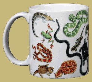 Herp Wrap ~ Reptile and Amphibian ~ 11 OZ. Ceramic Coffee Mug