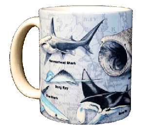 Sharks of the World 11 OZ. Ceramic Coffee Mug