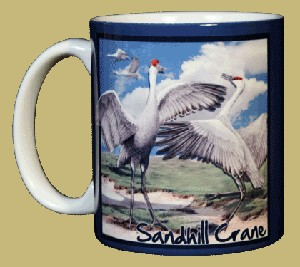 Sandhill Crane 11 OZ. Ceramic Coffee Mug