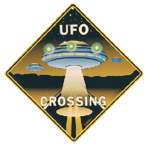 UFO Crossing Sign