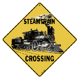 Steamtrain Crossing Sign