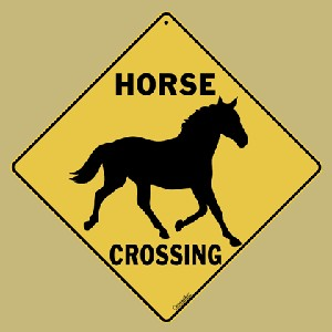 Horse Crossing Sign  (Silhouette)